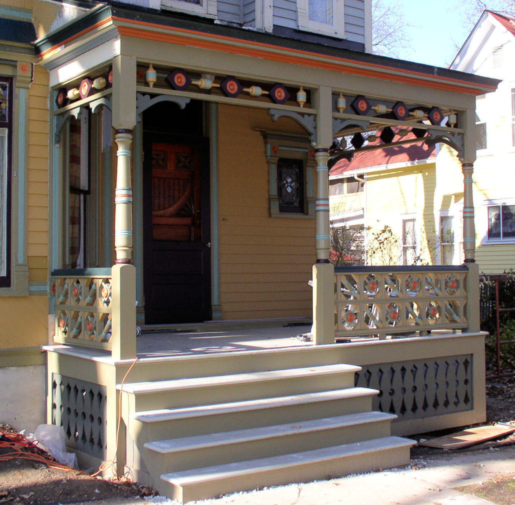 Recreating an old house porch from a picture old house for Www porches com